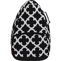 Geometric Clover Print Tennis Racquet Holder Backpack