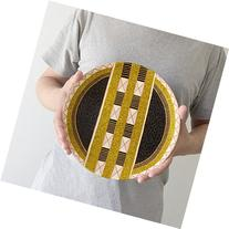 Geometric decorative plate, Gold plate, Home gifts