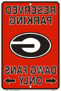 Georgia Bulldogs Fans Reserved Parking Sign Metal 8 x 12