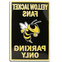 GEORGIA TECH YELLOW JACKETS Metal Parking Sign 12 x 18