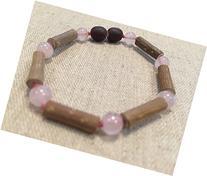 GERD, Colic, Reflux Baby Bracelet Pink Rose Quartz 5.5 - 6