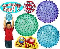 Original Gertie Ball Glitter Bumpie Balls Blue, Green &