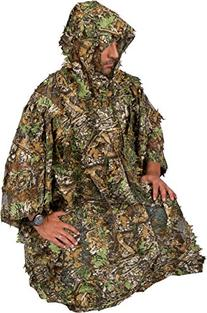 Ghillie Leafy Poncho - 3-D Solid Mesh - One Size Fits All By
