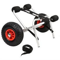 GHP Solid Aluminum Frame 220 Lbs Capacity Dolly Cart Boat