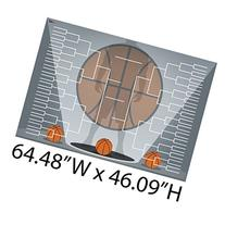"Giant Basketball Bracket Design 2 - Corrugated Plastic - 56"""