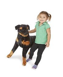 Melissa & Doug Giant Rottweiler -  Lifelike Dog Stuffed