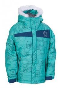 686 Gidget Puffy Insulated Snowboard Jacket Seafoam Rings XL
