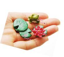 Gift For Girls Dollhouse Miniature lovely Frog Lotus & Lotus