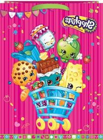 Shopkins Gift Bag: Green Matching Tissue Paper Included