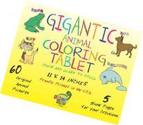 Debra Dale Designs Gigantic Animal Coloring Tablet Color &