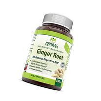 Herbal Secrets Ginger Root Supplement - 550 mg Capsules -