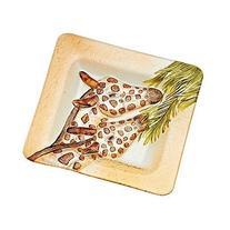 Giraffe Hand Painted Glass Platter