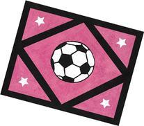 Girls Soccer Accent Floor Rug by Sweet Jojo Designs