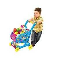 GJJ Kids Shopping Cart Fruit Walker Playset Toy,Blue