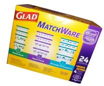 GladWare Glad matchware food storage containers variety pack