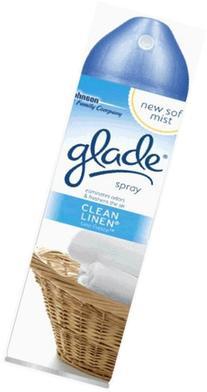 Glade Room Air Freshener Clean Linen Aerosol, Can 8 Oz