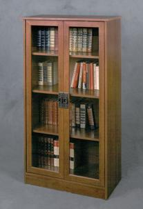 Ameriwood Home Quinton Point Bookcase with Glass Doors,