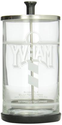William Marvy No.6 Glass Manicurist Disinfectant Jar