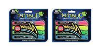 Quartet Glo-write Neon Dry-Erase Markers, Bullet Tip,