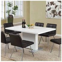 Monarch Specialties High Glossy White 60x35 Dining Table