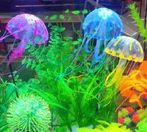 SKL Glowing Effect Soft Silicone Artificial Jellyfish