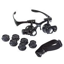 Beileshi® Glsses Magnifier 10x 15x 20x 25x LED Illumination