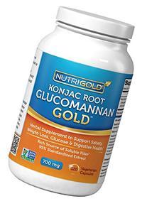 NutriGold Glucomannan GOLD, Konjac Root Fiber for Weight-