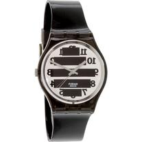 Swatch Women's Originals GM164 Black Rubber Swiss Quartz