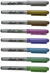 Bic GMPMP81 Metallic Permanent Marker, Fine Tip, Assorted