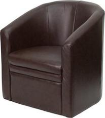 Flash Furniture GO-S-03-BN-FULL-GG Brown Leather Barrel-