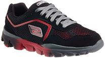 Skechers Kids Go Run Ride Black/Red Running Shoe 2 Kids US