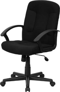 Flash Furniture GO-ST-6-BK-GG Mid-Back Black Fabric Task and