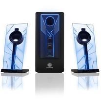 GOgroove BassPULSE Computer Speaker System with Blue LED