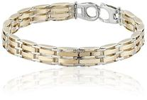 Men's 14k Gold-Bonded Sterling Silver 8.9mm Bracelet, 8