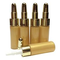 Perfectos Pack of 5 Gold Empty Eye Dropper Bottle Plastic