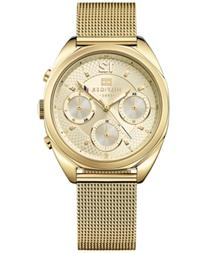 Tommy Hilfiger Women's Gold Ion-Plated Stainless Steel Mesh