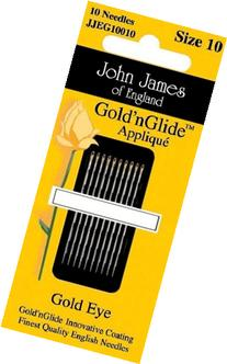 Colonial Needle Gold'n Glide Applique Hand Needles, Size 9,