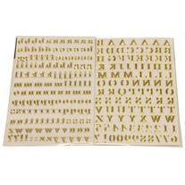 Gold Self Adhesive Alphabet Letters Stickers - 2 sheets