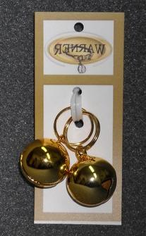 Warner Small Gold Colored Steel Pet Bells for Dog / Cat