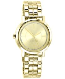 Nine West Women's Gold-Tone Adjustable Bracelet Watch 38mm