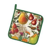 Michel Design Works GOLDEN PEAR Potholder - Flowers, Pears,