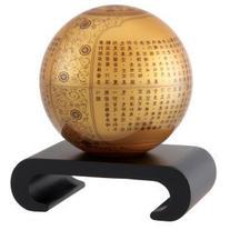 """4.5"""" Golden Prajna Paramita Heart Sutra MOVA Globe with"""