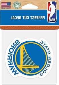 "NBA Golden State Warriors Perfect Cut Color Decal, 4"" x 4"