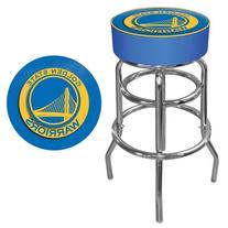 Golden State Warriors NBA Padded Swivel Bar Stool