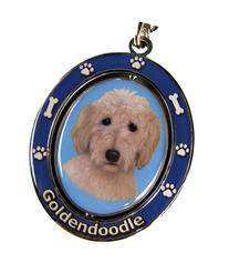 """Goldendoodle Key Chain """"Spinning Pet Key Chains""""Double Sided"""