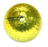 Golf Chromax M1 Golf Ball Gold Shiny 3 Balls Sleeve
