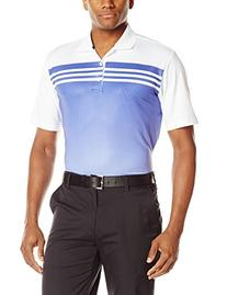 adidas Golf Men's Climacool 3 Stripes Gradient Polo Shirt,