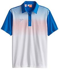 Puma Golf Boys Junior Glitch Polo, Strong Blue/Puma Red,