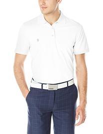 IZOD Men's Performance Golf Grid Polo, White, X-Small