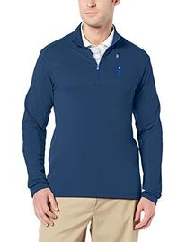 adidas Golf Men's Mixed Media 1/4 Zip Jacket, Lead/White/